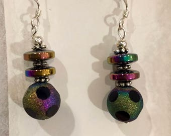 Festive Colorful Dangle Earrings