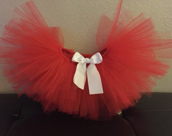 Red with Bow option Tutu Tulle Skirt