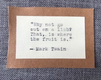 Why not go ... Twain quote type-writer magnet