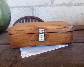 old vintage wooden box french 30s-40s