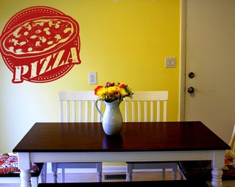 Wall Vinyl Sticker Decals Mural Room Design Pattern Pizza Slice Stamp Food   bo1363