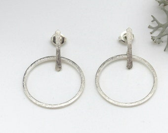 Attraction earrings, small version, sterling silver