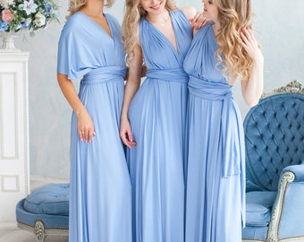 Floor Length LONG Ball Gown Maxi Infinity Dress Convertible Formal Multiway Wrap Bridesmaid Dress Evening Dress Wedding