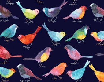 Bird Watchers Black P and B Textiles Fabric