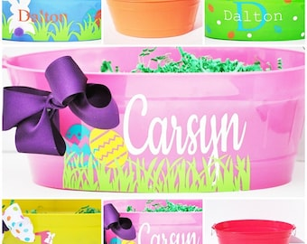 Personalized Plastic Easter Basket