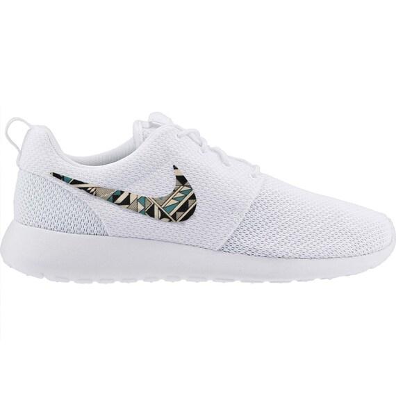 New Nike Roshe Run Custom Gray Black Green Cabo Tribal Edition Men Sizes 8 - 15