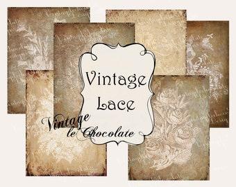 Vintage Lace Paper Photography Background Textures Wedding Victorian Graphics Digital Scrapbook Decoupage. No. P228