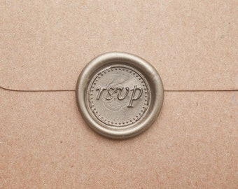 RSVP Wax Seal | Wedding Invitation | Party Reservation |  Letter Wax Seal Stamp