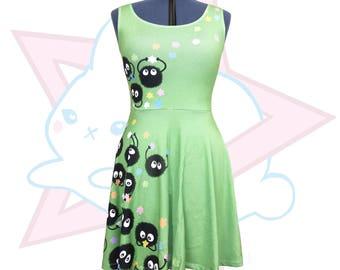 Soot Sprite | Studio Ghibli | Green Skater Dress