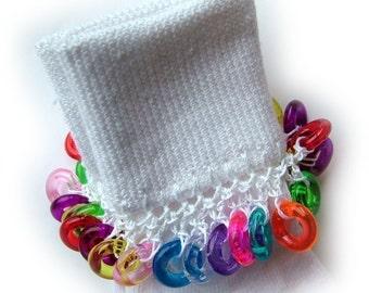 Kathy's Beaded Socks - Colorful Ring socks, girl socks, white socks, ring socks, clear ring socks, red ring socks, blue ring socks