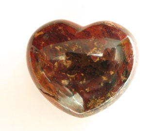 I Love You Stone Heart Shaped keepsake engraved semi precious stone