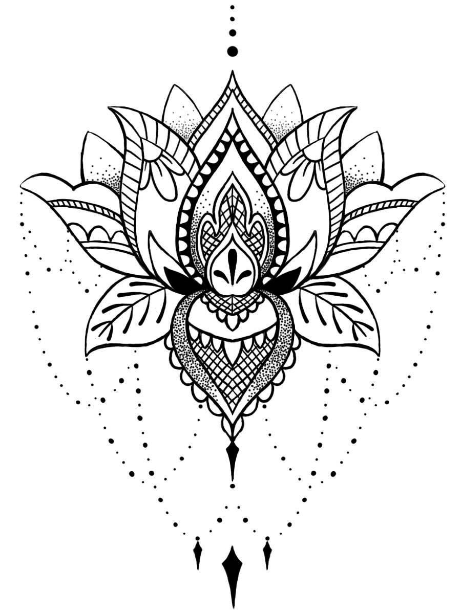 temporary tattoo mandala tattoo mandala henna festival lotus