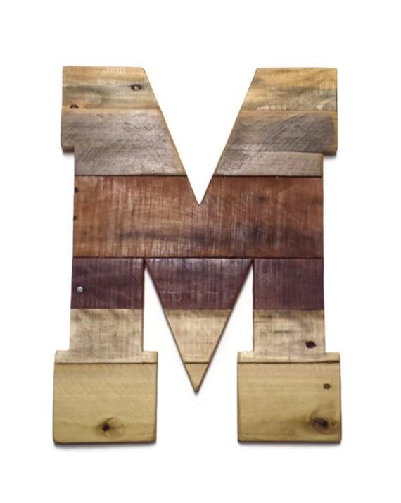 Letter M Home Decor Impressive Letter M Reclaimed Pallet Wood Rustic Home Decor Wood Design Decoration