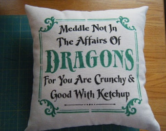 Pillow - Middle not in the Affairs of Dragons.....