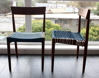 Vintage Chair Frames with Handwoven Polyfiber Seats