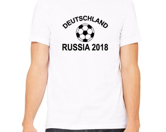 Deutschland Russia 2018 Shirt. Germany Russia 2018 Football World Cup Support Shirt. German Football Shirt.