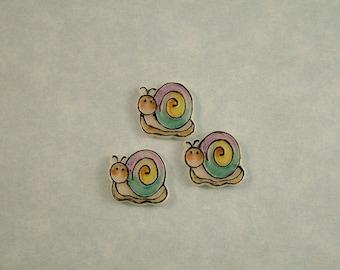 Snail Embellishment set of 3