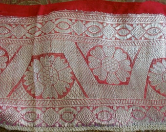 Pink and Silver Ethnic Trim