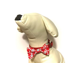 Bone Appetite Dog Collar Bow Tie