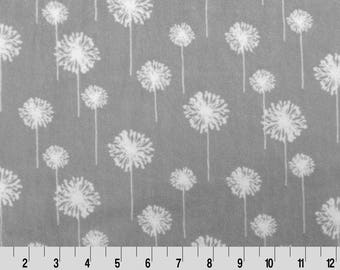 """Full Size Standard Pillowcase - Dandelion Minky - You choose the color - Fits Standard Pillow - 20"""" x 30"""""""