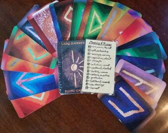 Viking Pagan Hand Painted Rune Cards