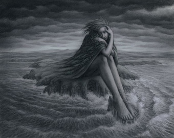 The Tides of Emotion- Limited edition print of a pastel painting