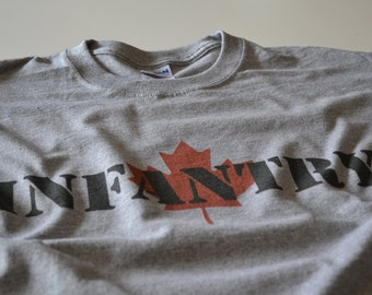 Canadian Infantry t shirt Canada Forces Army tshirt soldier maple leaf Canadian military shirt gift for military son brother husband