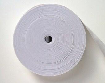 """1"""" Elastic 5m, white waistband elastic, dressmaking elastic, sewing supplies, elastic waistband, white dress making elastic, UK haberdashery"""