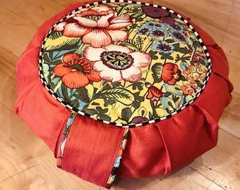 Meditation Pillow cover, Meditation cushion, Yoga cushion, Yoga Prop, Zafu, Floor pillow, Supportive Pillow, Restorative Prop