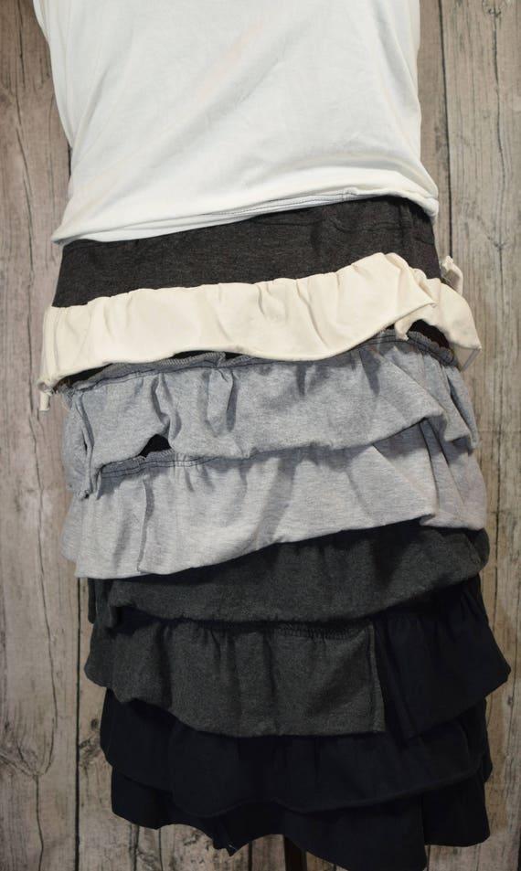 Ruffle Skirt - Custom - Custom ombre Ruffle Skirt - Elastic or Yoga Waistband  in Knit