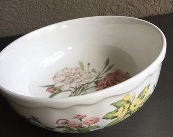 Noritake Gourmet Garden Vegetable Bowl Carnation Vintage Sri Lanka Casual China - #M1026