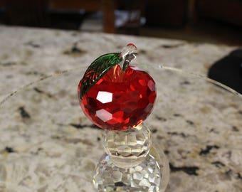 CRYSTAL/GLASS APPLE  100% high quality crystal