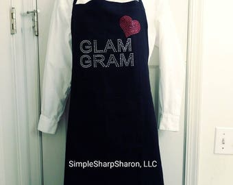 Mother's Day Gift: Bling apron with a cutsomizeable design