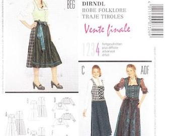 Burda 7326 Women's Dirndl Sewing Pattern, 18-32