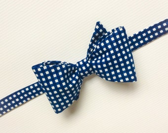Navy Bow Tie, Navy Patterned Bow Tie, Mens Bow Ties, Mix and Match Bow Ties, Navy Bow Ties, Groomsmen Bow Ties, Wedding Ties, gingham