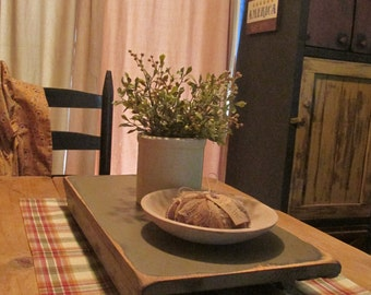 Farmhouse table riser primitive colonial bench