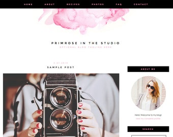 "Blogger Template, Blog Template - ""Primrose 