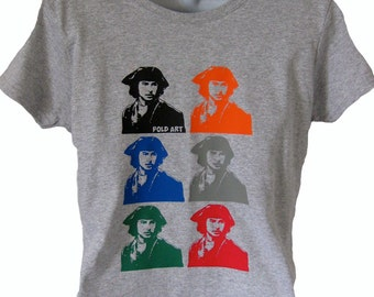 New Pold Art [Poldark] Demelza T Shirt Top Tee Women's Ladies