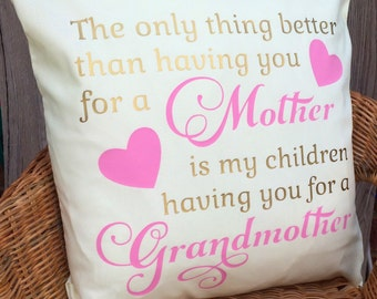 Mother's Day Cushion Cover, Scatter Cushion, Mother Gift, Mum Gift, Grandmother Gift, Grandma Gift , UK