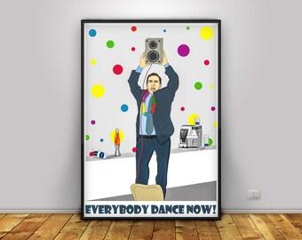 Michael Scott The Office TV show Poster  Wall Decor Steve Carell Scranton NBC Dunder Mifflin Dwight Schrute Pam Beesly Jim Halpert