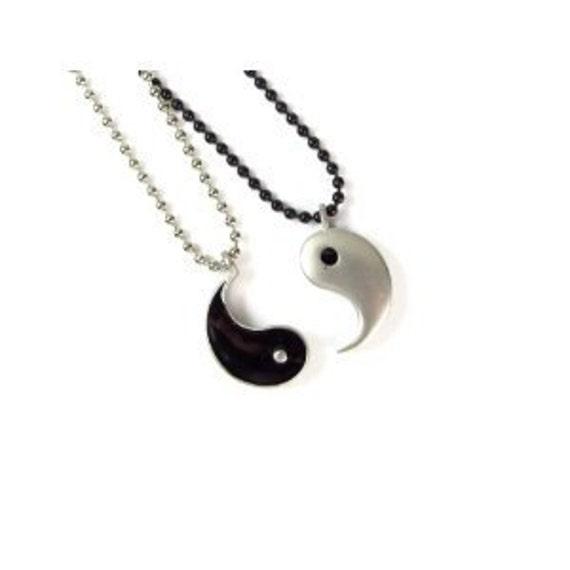 My other half friendship yin yang pendants on ball chain zoom aloadofball Images