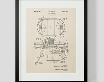 Vintage Hockey Game Patent Print