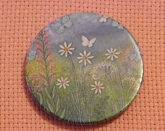 CLEARANCE, Seconds stock, Butterflies Needle Minder, Licensed, Cross Stitch Keeper, Jo Grundy Art, Fridge Magnet, Button Magnet, Pin Holder