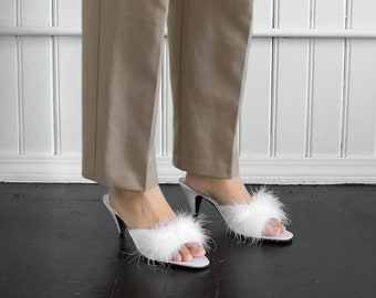 90s Coco Fuzzy Heels / Tag Size 10