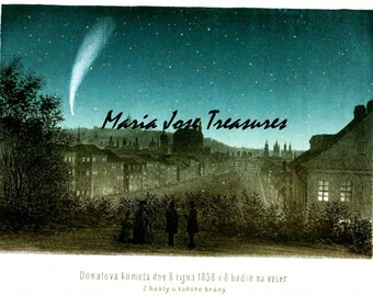 Comets, meteors Vintage illustrations - Digital Download