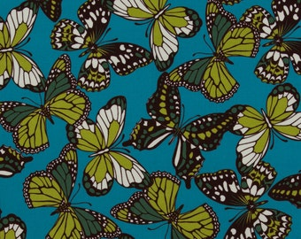 Josephine Kimberling OOP Fabric for Robert Kaufman  -  Hot Blossom Collection  -  Flutterby Kisses AJG-8886-192 in Spring  -  2-3/8  Yards