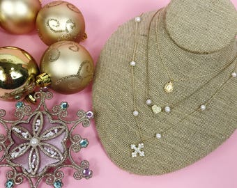 Layered Charm Necklaces