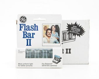 GE Flash Bar II - single Flash - 10 Flash Bar New in box - SX70 Polaroid New Old Stock NOS