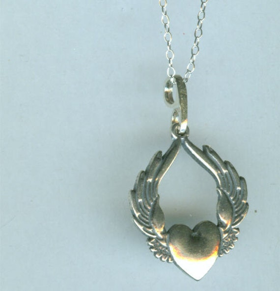 Sufi heart pendant and 18 inch chain sterling silver zoom aloadofball Gallery