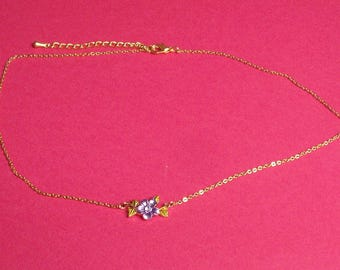 Brass Daisy Choker necklace